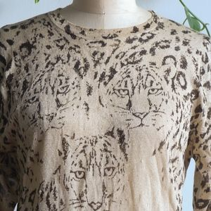 VINTAGE Tigers Sparkling Knit Sweater